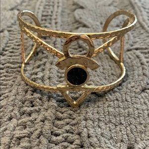 Jewelry - EUC Gold and Black Anchor design bracelet!